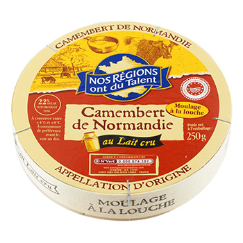 Fromage Camembert AOC Nos regions ont du Talent 250g