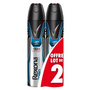 Déodorant Cobalt blue Rexona for Men atomiseur 2x200ml