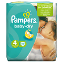 Pampers baby dry paquet 7/18kg x25 taille4