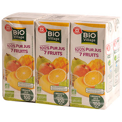 Pur jus 7 fruits Bio Village 6x20cl