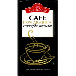 Cafe moulu 100% arabica, le paquet, 250g