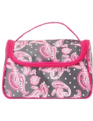 Danielle Creations Paisley Zip Train Case with Handle Bag