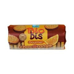 Pural Biosbis Biscuits Fourrés Ronds au Chocolat et à l'Orange Bio