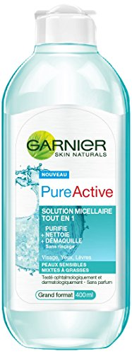 Garnier Pure Active Solution Micellaire 400 ml - Lot de 4