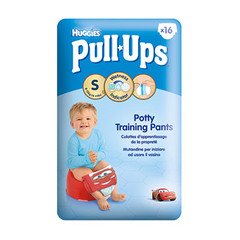 Huggies pull-ups, Couche culotte taille s/4 boy (8-15 kg) , pack de 16 culottes