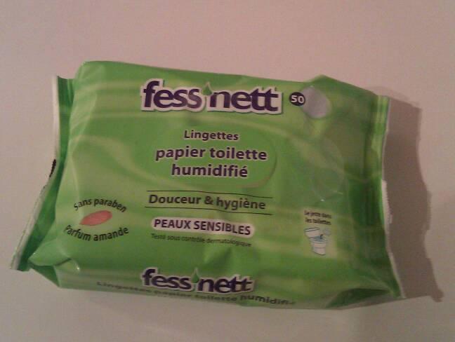 papier toilette humidifie peaux sensibles fess 39 net 50 feuilles tous les produits toilette. Black Bedroom Furniture Sets. Home Design Ideas