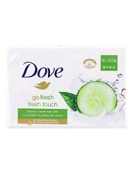 DOVE Fresh Touch 4 Pain de Toilette de 100 g - Lot de 2