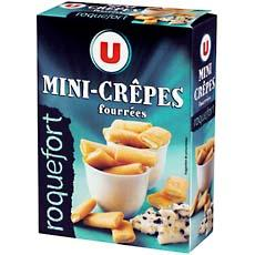 Mini crepes fourrees au roquefort U, 65G