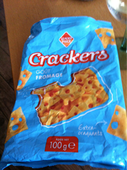 Crackers, goût fromage 100g