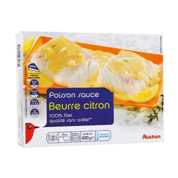 Poisson Sauce Beurre Citron 100 Filet Qualite Sans Arete Colin D