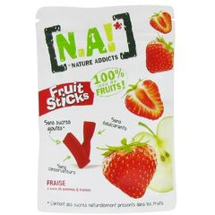 Pepites Fruit Sticks fraise N.A!, 40g