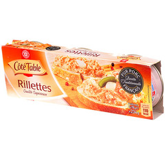 Rillettes pur porc Cote Table 3x78g