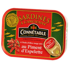 Sardines Connétable Piment d'Espelette - 115g