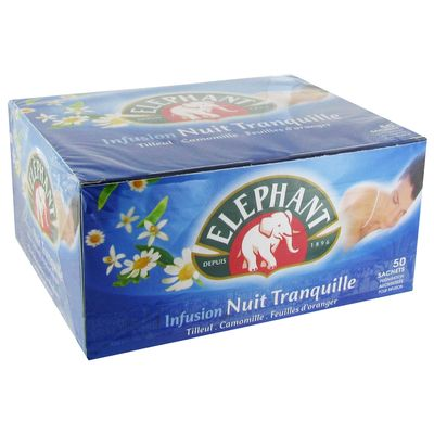 Infusion nuit tranquille Lipton elephant x50 sachets environ 76g