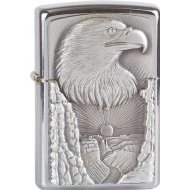 Zippo briquet, Eagle Grand Canyon Trick Surprise, Aigle, 3-D Emblème, Chromé