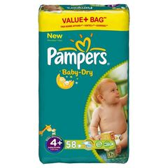 Pampers baby dry value + couches T4 + x58