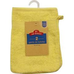 Top Budget, Gants 16x21 citron, le lot de 2