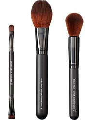 VEGAN LOVE Pack de 3 Pinceaux de Maquillage Multi Task + Large Pointed Face + Small Rounded Face