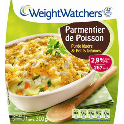 Weight Watchers, Parmentier de poisson, puree onctueuse & petits legumes, le plat de 300g