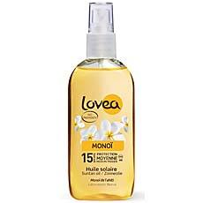 Spray solaire au monoi SPF 15 LOVEA, 125ml