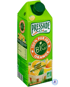 Bio pressade pur jus d'orange brique 75cl