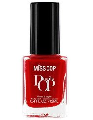 Miss Cop Vernis à Ongles Pop Nails Rouge Fatal 12 ml - Lot de 2
