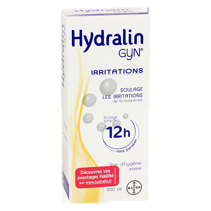 Gel calmant intime Gyn irritations Hydralin