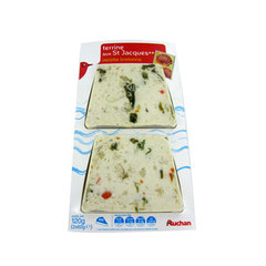 Auchan terrine de saint jacques 2x60