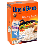 Riz long grain Uncle Ben's Sachet cuisson 5x200g