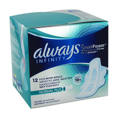 Always infinity serviettes hygieniques normal plus 10 + 2