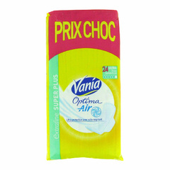 Serviettes Vania Optima Super + prix Choc x24