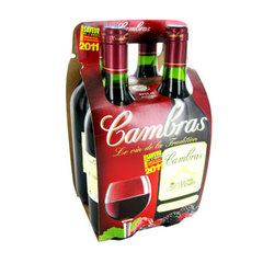 Vin de table de France rouge CAMBRAS, 4x75cl
