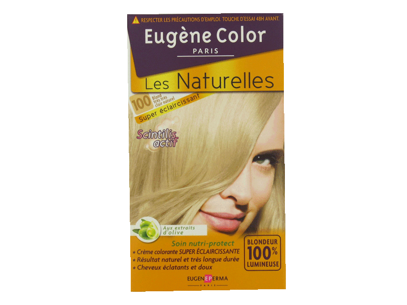 Coloration permanente EUGENE COLOR, blond tres tres clair naturel n°100