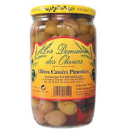 Olives cassees pimentees casher