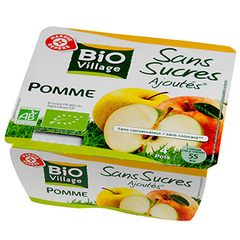 Puree de fruits Bio Village Pomme 4x100g