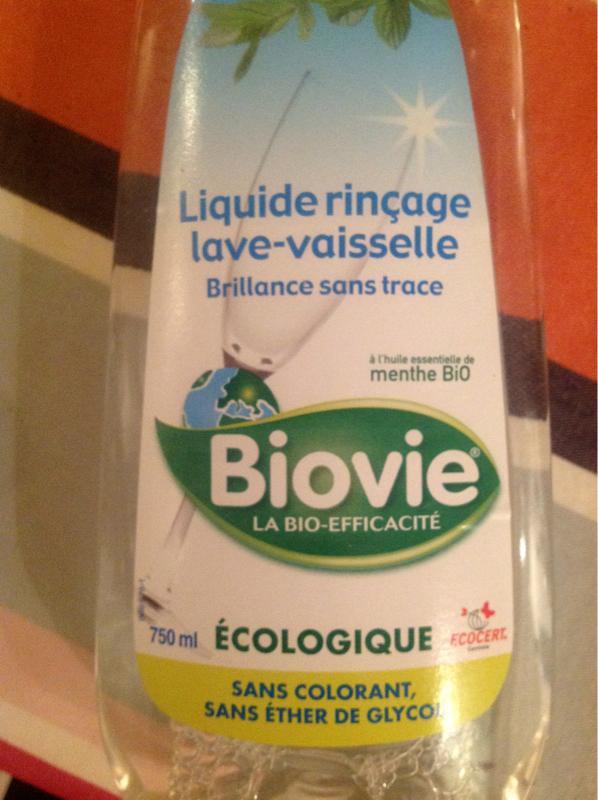 liquide de rin age cologique pour lave vaisselle biovie flacon de 750ml tous les produits. Black Bedroom Furniture Sets. Home Design Ideas