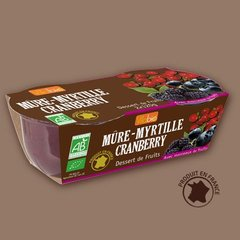 Dessert de fruits mure-myrtille cranberry bio