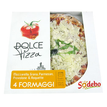 Pizza a l'Italienne 4 Formaggi SODEBO, 340g