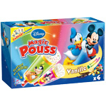 Magic Pouss vanille et bonbons multicolores DISNEY, 4 unites, 320ml