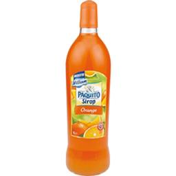Sirop d'orange au jus concentre de fruit, la bouteille,1l
