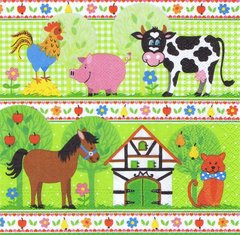 20 Serviettes en papier Design EditionPAPSTAR, Little Farm