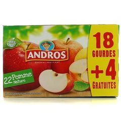 Andros gourde pomme nature 18x90g