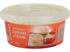 Tartinable surimi crabe
