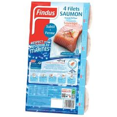 Findus, Filets de saumon rose sauvage, le paquet de 4 - 440 g