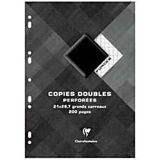 Copies doubles perforees FORCE 8, A4, seyes, 90g, 200 pages