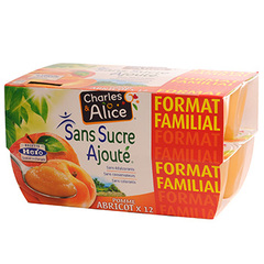 Specialite Charles et Alice Abricot sans sucre 12x100g