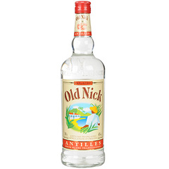 Old Nick Rhum blanc traditionnel des Antilles la bouteille de 1 l