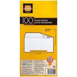 Enveloppes auto-adhesives, 11 x 22cm, le paquet de 100