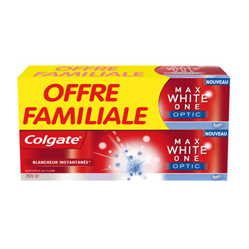 Dentifrice Colgate Maxwhite one 2 x 75ml