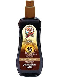 Australian Gold Spray Solaire SPF 15 avec Agent Bronzant Protection Moyenne 237 ml